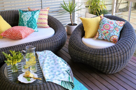 Terracotta Spot Outdoor Indoor Cushion Cover