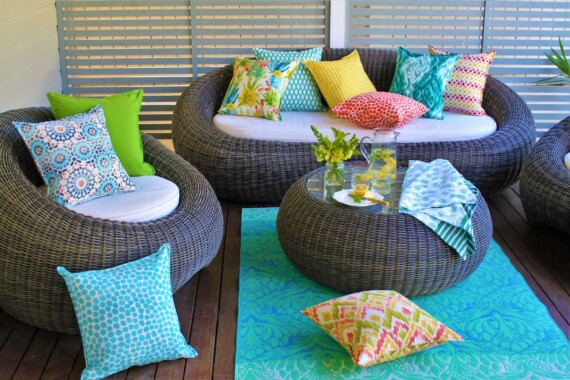 Riad Tile  Outdoor Indoor Cushion Bungalow Living