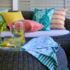 Bungalow Living Citrus Houndstooth Outdoor Indoor Cushion Made In Australia