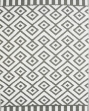 Bungalow Living Grey Geometric Outdoor Rug