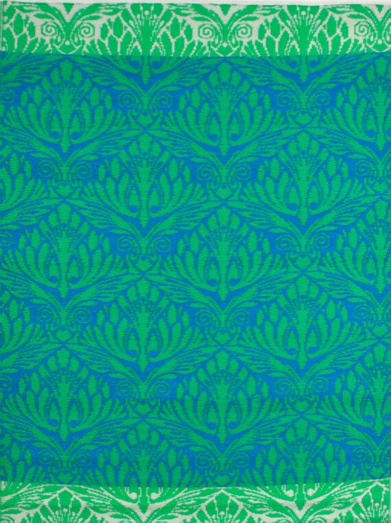 Bungalow Living Blue & Green Peacock Outdoor Rug