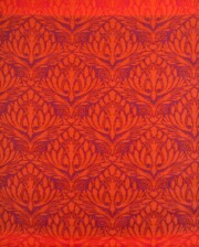 Bungalow Living Orange & Red Peacock Outdoor Rug