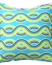 Aqua Swirls Outdoor Indoor Cushion Cover