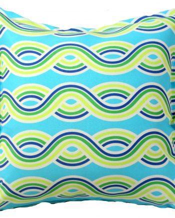 Aqua Swirls Outdoor Indoor Cushion Cover
