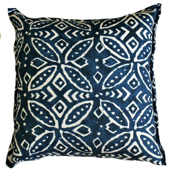 Batik Indigo Geometric Outdoor Cushion Bungalow Living