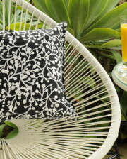Black & White Wattle Outdoor Cushion Bungalow Living