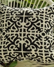 Black & White Florence Outdoor Cushion Cover Bungalow Living