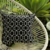 Black & White Geometric Outdoor Cushion Bungalow Living