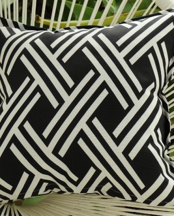 Black & White Maze Outdoor Cushion Bungalow Living