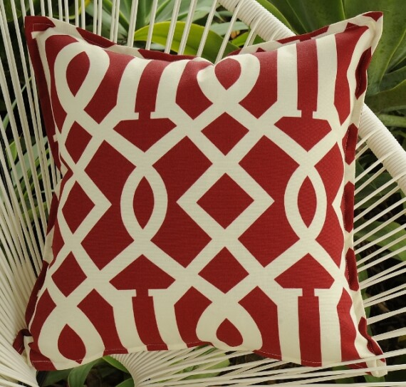 Red Arch Outdoor Indoor Cushion Bungalow Living