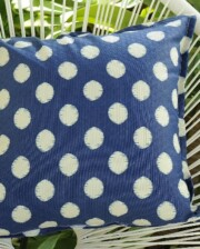 Navy Blue & Ivory Spot Outdoor Indoor Cushion