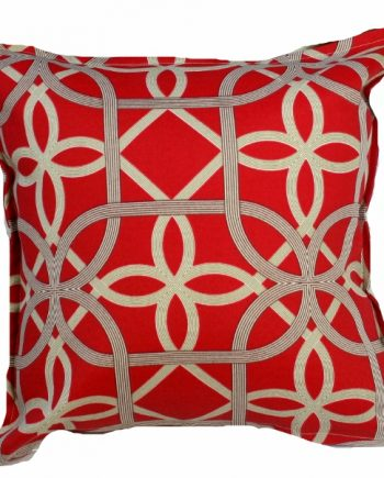 Red Ribbons Outdoor / Indoor Bungalow Living Cushion Cover