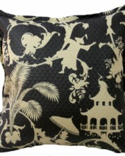 Black Chinoiserie Outdoor Cushion Bungalow Living
