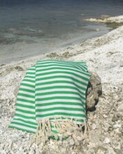 Green & White Turkish Towel Bungalow Living