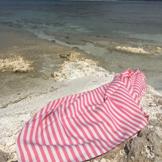 Pink & White Stripe Turkish Towel