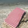 Red & White Stripe Turkish Towel Bungalow Living Australia