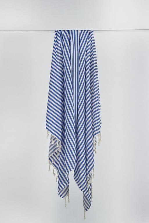 blue & white STripe turkish towe 1l