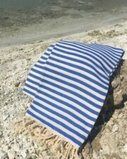 Blue & White Hand loomed Turkish Towel Bungalow Living Australia