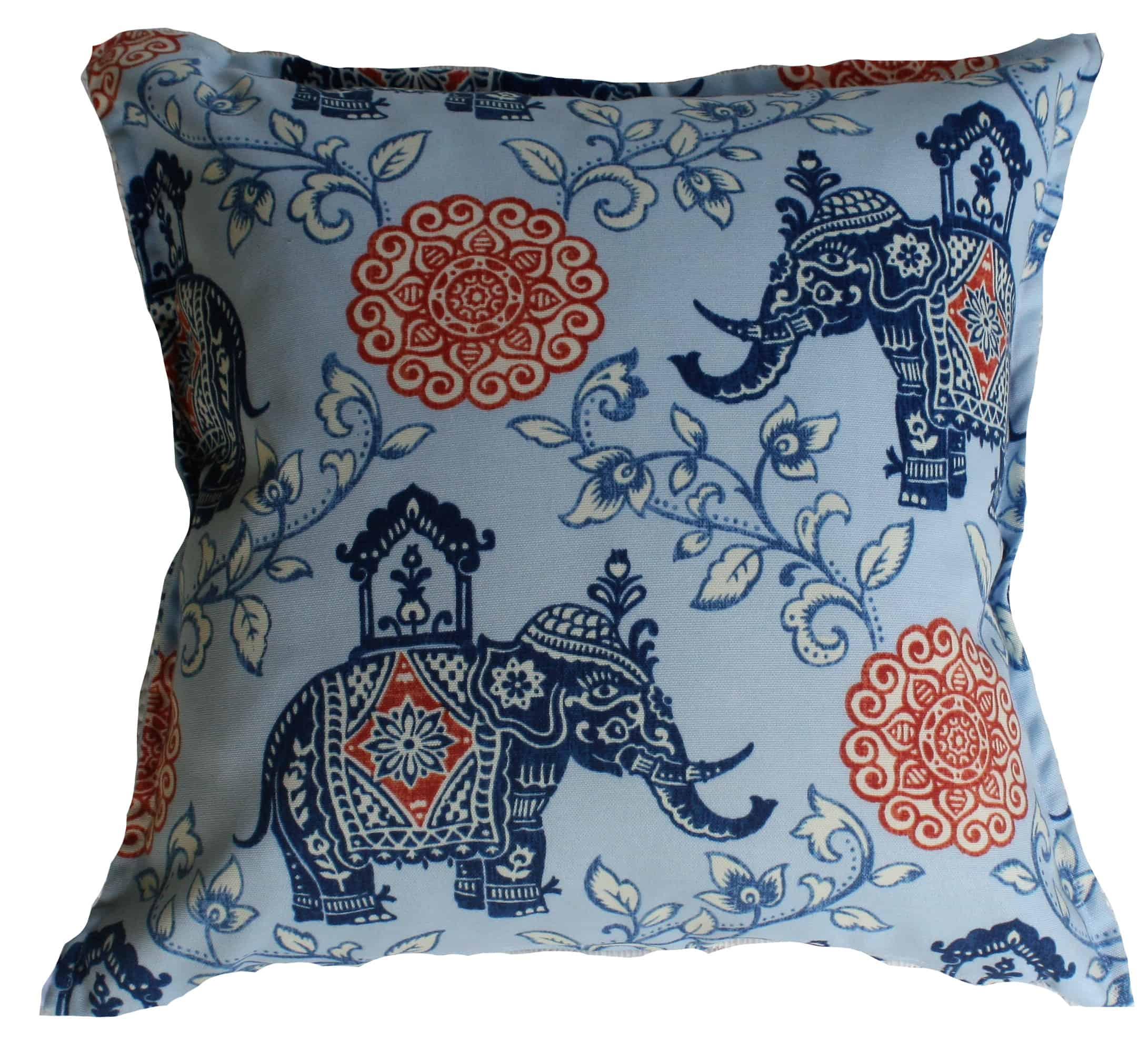 Elephant Blue Indoor Outdoor Cushion Cover