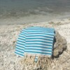 Turkish Towel Aqua & White Stripe Bungalow Living