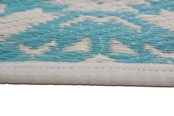 Aqua Bohemian Outdoor Mat 2