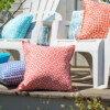 Bungalow Living Aqua Spot Outdoor Cushion Made In Australia