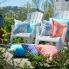 Bungalow Living riad Tile Outdoor Cushion Made In Australia