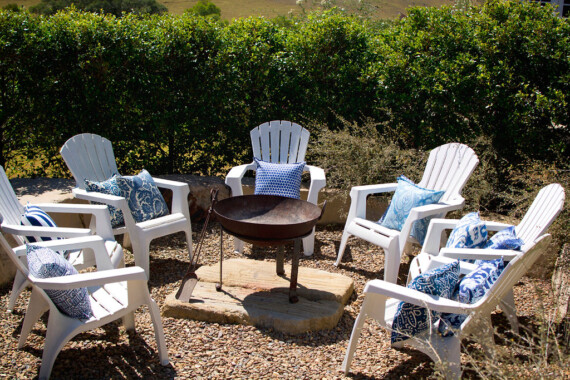 Bungalow Living Azure Paisley Outdoor INdoor Australian Made Cushion
