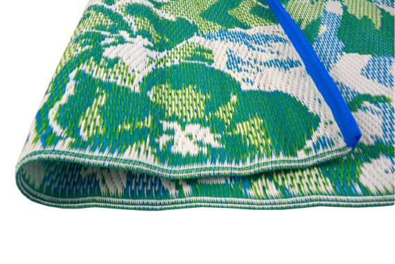 Blue & Green Tropical Outdoor Mat 2