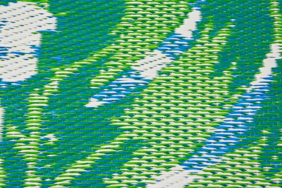 Blue & Green Tropical Outdoor Mat 6