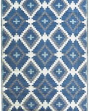 Blue & Grey Aztec Outdoor Mat