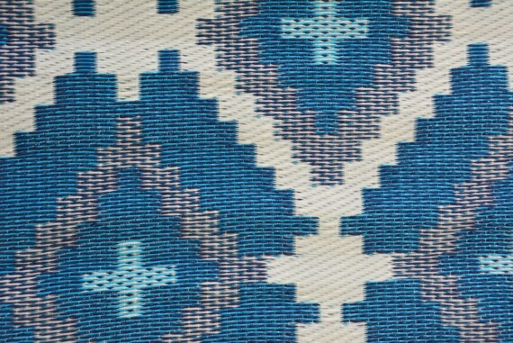 Blue & Grey Aztec Outdoor Mat 5
