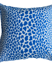 Blue Leopard Spot Outdoor Cushion