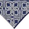 Blue & White Gypsy Outdoor Mat 4