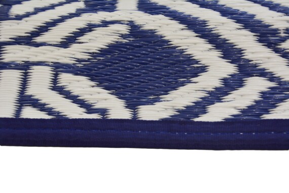 Blue & White Gypsy Outdoor Mat 5