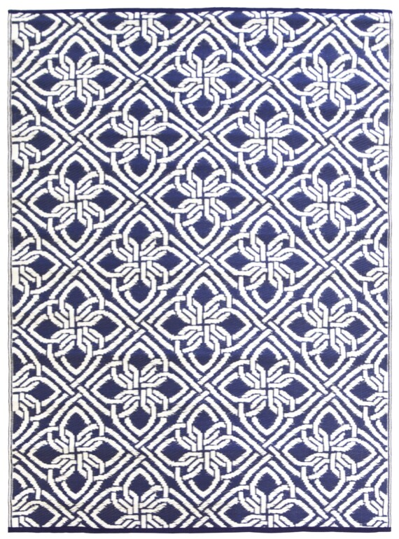 Blue & White Gypsy Outdoor Mat