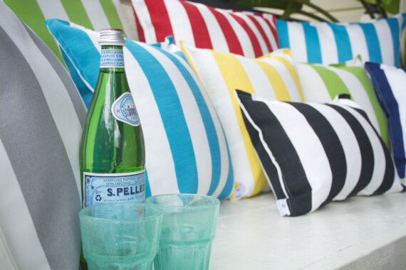 Bungalow Living Outdoor Striped Cushions Made in Australia