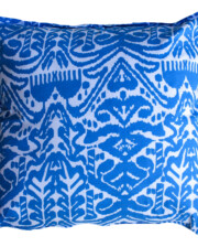 Cornflower Blue Ikat Interior Cushion