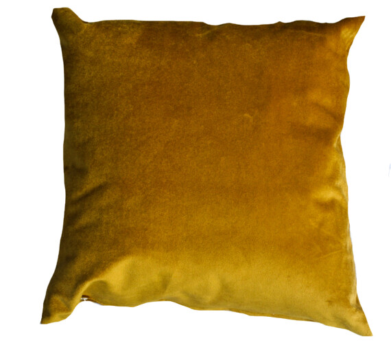 Gold Velvet Indoor Cushion
