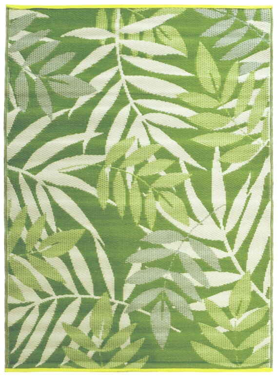 Green Leaves Outdoor Mat