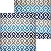 Grey & Blue Geometric Outdoor Mat 1