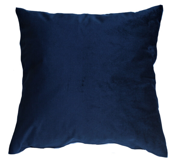 Navy Blue Velvet Indoor Cushion