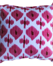 Pink Ikat Hand Printed Indoor Cushion