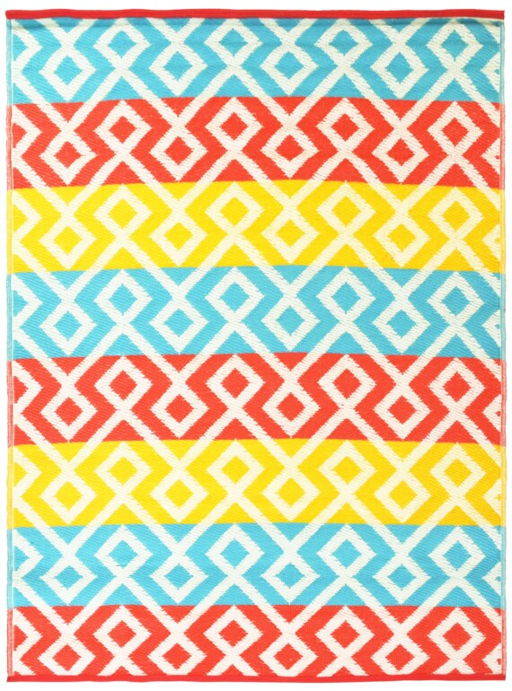 Summer Geo Outdoor Mat