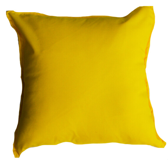 Sunflower Yellow Solid Outdoor Cushion