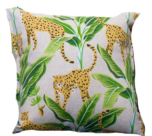 Bungalow Living Leopard Jungle Outdoor Indoor Cushion