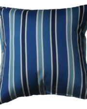 Blue Stripes Bungalow Living Outdoor Cushion