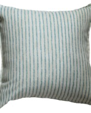 Tea Stained Aqua Stripe Outdoor Cushion Bungalow Living