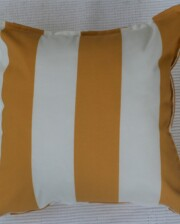 Mustard Yellow & White Stripe Outdoor Cushion Bungalow Living 3