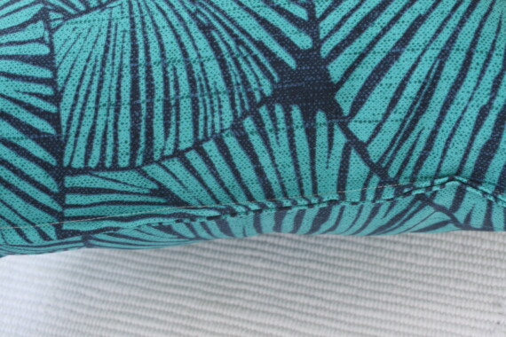 Blue & Aqua Leaves Bungalow Living Outdoor Cushion Australia